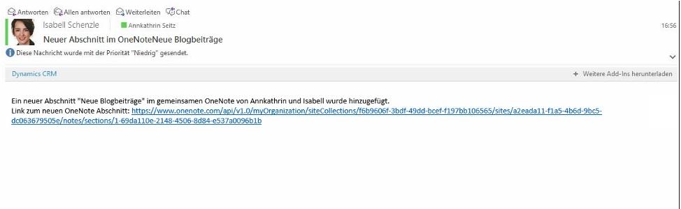 E-Mail Benachrichtigung, weil Flow ausgelöst wurde