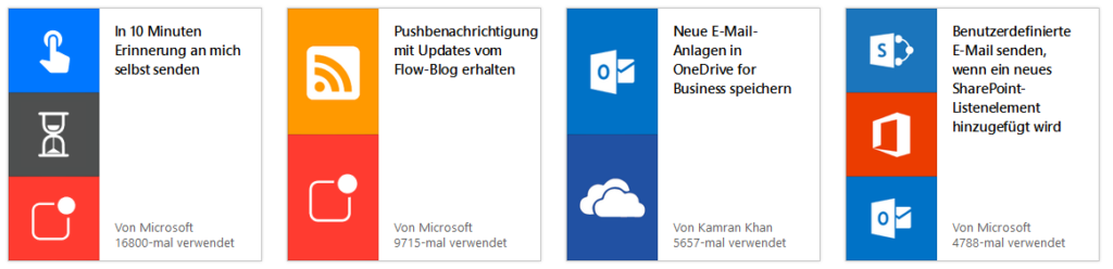 Vorlagen in Microsoft Flow