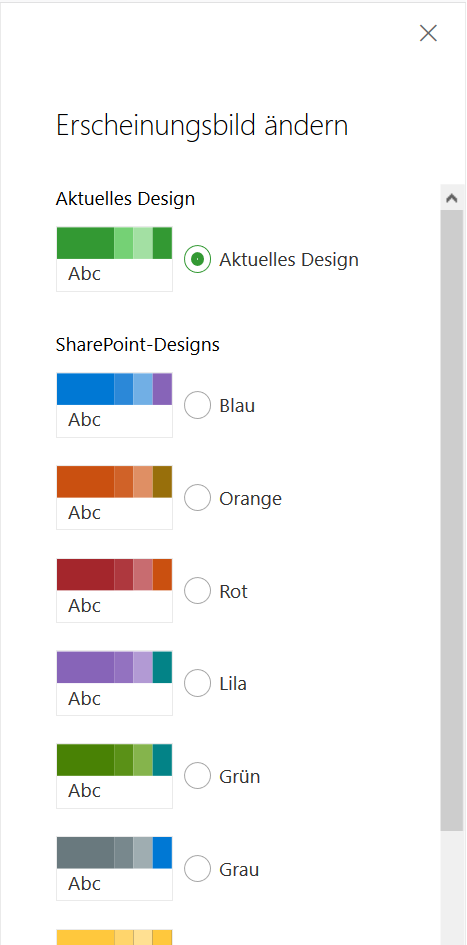 SharePoint Modern Sites Layout anpassen
