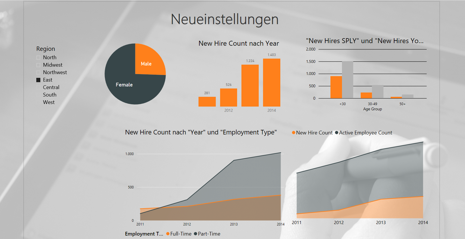 Power BI Neueinstellungen Screenshot