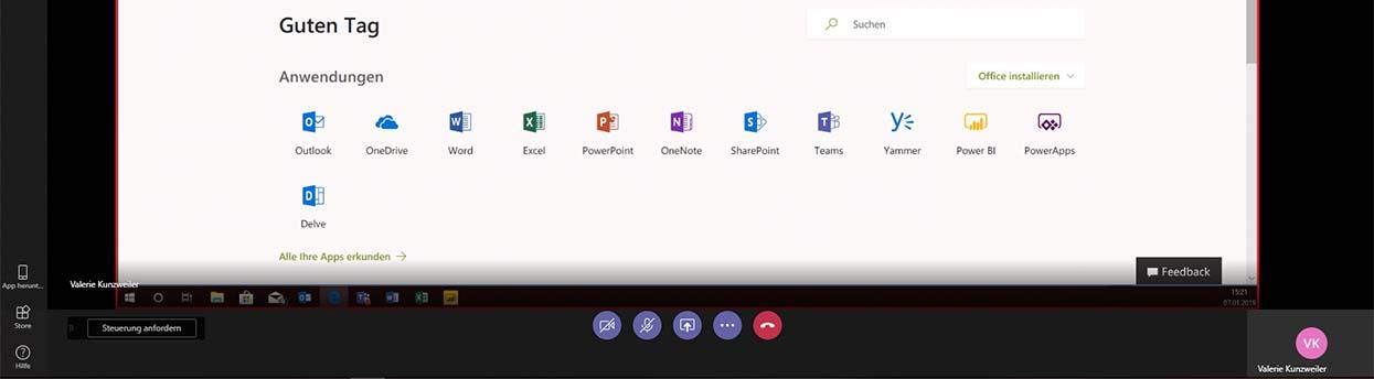 So können Sie in Microsoft Teams den Bildschirm teilen